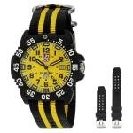 นาฬิกาผู้ชาย Luminox รุ่น 3955.SET, Sea Scott Cassell Specials Yellow Dial Interchangeable Strap Men's Watch