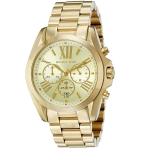 นาฬิกา ชาย-หญิง Michael Kors รุ่น MK5605, Bradshaw Chronograph Gold Tone Unisex Watch
