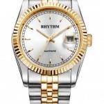 นาฬิกา ชาย - หญิง Rhythm รุ่น R1201S03, Traditional Oyster Sapphire Dual Tone R1201S 03, R1201S-03