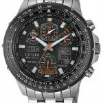 นาฬิกาข้อมือผู้ชาย Citizen Eco-Drive รุ่น JY0080-62E, Promaster Titanium Sapphire Skyhawk Radio Controlled Watch