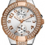 นาฬิกา Guess Model U13586L2, Status In The Round Crystal Embellished Watch