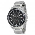 นาฬิกาผู้ชาย Tommy Hilfiger รุ่น 1791165, Jace Multi-Function Black Dial Stainless Steel