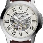 นาฬิกาผู้ชาย Fossil รุ่น ME3099, Grant Automatic Beige Skeleton Dial Men's Watch
