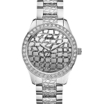 นาฬิกา Guess Model U0236L1, Feminine Animal Crystals Silver Tone Quartz