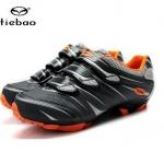 พร้อมส่ง รองเท้าจักรยานเสือภูเขา TIEBAO รุ่น TB35-B81 สีดำเทาส้ม
