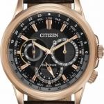 นาฬิกาข้อมือผู้ชาย Citizen Eco-Drive รุ่น BU2023-12E, Calendrier World Time Leather