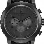 นาฬิกาข้อมือผู้ชาย Citizen Eco-Drive รุ่น CA4098-06E, 100m Military Chronograph Black IP Canvas Watch