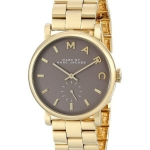 นาฬิกาผู้หญิง Marc By Marc Jacobs รุ่น MBM3281, Baker Quartz Grey Dial Gold Plated