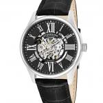 นาฬิกาผู้ชาย Stuhrling Original รุ่น 747.02, Atrium Automatic Skeleton Leather Strap Men's Watch