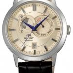 นาฬิกาผู้ชาย Orient รุ่น FET0P003W0, Multi-Eyes Sun & Moon Sapphire Automatic