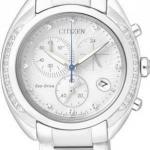 นาฬิกาข้อมือผู้หญิง Citizen Eco-Drive รุ่น FB1381-54A, Diamond Chronograph Sapphire Japan