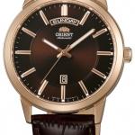 นาฬิกาผู้ชาย Orient รุ่น EV0U002T, Classic Automatic Brown Dial Leather Strap