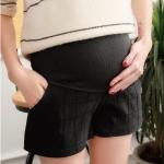 กางเกงคนท้อง ขาสั้น สีดำ ลายสก๊อต M,L,XL