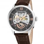 นาฬิกาผู้ชาย Stuhrling Original รุ่น 574.03, Executive II Stainless Steel Genuine Leather Strap Men's Watch