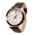 นาฬิกาผู้ชาย Tommy Hilfiger รุ่น 1791118, Luke Multi-Function White Dial Brown Leather