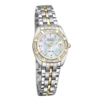 นาฬิกาผู้หญิง Citizen Eco-Drive รุ่น EW1594-55D, Paladion Mother Of Pearl Dial Stainless Steel Women's Watch