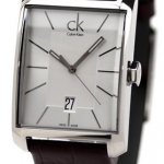 นาฬิกาข้อมือผู้ชาย Calvin Klein รุ่น K2M21126, Window Watch Analog Dress Quartz SWISS Watch