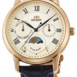 นาฬิกาผู้หญิง Orient รุ่น RA-KA0003S00C, Quartz Classic Sun & Moon Japan Women's Watch