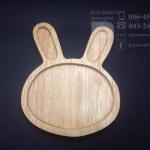 จานไม้รองแก้วรูปกระต่าย 5 นิ้ว จำนวน 1 ชิ้น