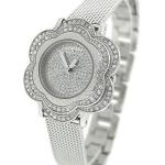 นาฬิกา Guess Model U0139L1, Guess Silver Tone Floral Mesh