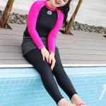 ชุดว่ายน้ำคนอ้วน แบบสปอร์ตพร้อมส่ง :ชุดว่ายน้ำไซส์ใหญ่สีดำชมพูแขนยาว set 3 ชิ้น มีเสื้อแขนยาว บราและกางเกงขายาวติดกางเกงขาสั้น แบบสวยคุ้มสุดๆจ้า:เสื้อแขนยาวรอบอก36-42นิ้ว บรารอบอก34-40นิ้ว กางเกงขายาวติดกางเกงขาสั้น เอว28-36นิ้ว สะโพก36-44นิ้วจ้า