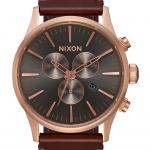นาฬิกาผู้ชาย Nixon รุ่น A1051524, Sentry Chrono Leather