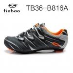 รองเท้าจักรยานเสือหมอบ TIEBAO รุ่น TB36-B816A สีเทาดำ