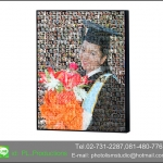 Mosaic Photo แบบcell เล็ก ขนาด 16x20 นิ้ว + กรอบลอย เคลือบด้าน