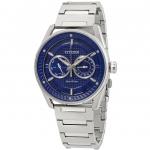 นาฬิกาผู้ชาย Citizen Eco-Drive รุ่น BU4020-52L, CTO Blue Dial Stainless Steel Men's Watch