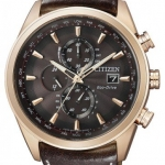 นาฬิกาผู้ชาย Citizen Eco-Drive รุ่น AT8019-02W, Sapphire 200m Leather