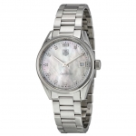 นาฬิกาผู้หญิง Tag Heuer รุ่น WAR1314.BA0778, Carrera Stainless Steel Diamond Accent Ladies Watch