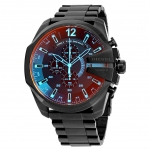นาฬิกาผู้ชาย Diesel รุ่น DZ4318, Mega Chief Black Ion-Plated Stainless Steel Watch