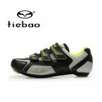 รองเท้าจักรยานเสือหมอบ TIEBAO รุ่น TB16-B943 สีเขียวเทาดำ