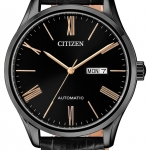 นาฬิกาผู้ชาย Citizen รุ่น NH8365-19F, Mechanical Automatic Day & Date Leather Strap 50m Men's Watch