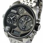 นาฬิกาผู้ชาย Diesel รุ่น DZ7221, 'Mr. Daddy' Chronograph 4 Time Zones Stainless Steel Watch