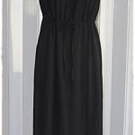 Sold Forever21เดรสยาว สายเดี่ยว เอวรูด ผ้าชีฟอง สีดำ
