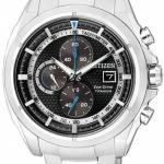 นาฬิกาข้อมือผู้ชาย Citizen Eco-Drive รุ่น CA0551-50E, Chronograph Super Titanium Sapphire Japan