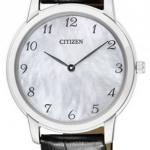 นาฬิกาผู้หญิง Citizen Eco-Drive รุ่น EG6005-03D, Sapphire Leather Ultra Slim Japan Ladies Watch