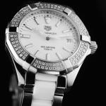 นาฬิกาผู้หญิง Tag Heuer รุ่น WAY131F.BA0914, Aquaracer Quartz Ceramic & Diamonds 300 M - ∅35 Mm Ladies Watch