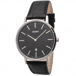 นาฬิกาผู้ชาย Orient รุ่น FGW05004B, Slim Collection Minimalist Leather Strap Quartz Men's Watch
