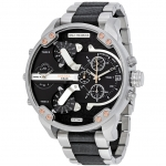 นาฬิกาผู้ชาย Diesel รุ่น DZ7349, Mr Daddy 2.0 Chronograph Stainless Steel 4 Time Zone Men's Watch