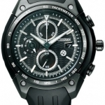 นาฬิกาข้อมือผู้ชาย Citizen Eco-Drive รุ่น CA0386-03E, Chronograph 100m Japan Rare Special Edition Black Toyota 86