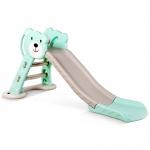 สไลเดอร์ 2 อิน 1 สำหรับเด็ก Mini Playground Set หมีสีฟ้า พร้อมห่วงบาส