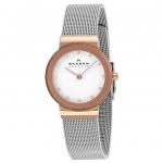 นาฬิกาผู้หญิง Skagen รุ่น 358SRSC, Freja White Dial Swarovski Mesh Bracelet Women's Watch