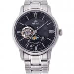 นาฬิกาผู้ชาย Orient รุ่น RA-AS0002B10B, Sun & Moon Open Heart Automatic