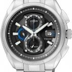 นาฬิกาข้อมือผู้ชาย Citizen Eco-Drive รุ่น CA0201-51E, Super Titanium 100m Sapphire Japan Chronograph Watch