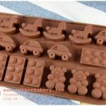 พิมพ์ซิลิโคน ช็อคโกแลต ลายของเล่นเด็ก