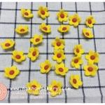 ดอกไม้ น้ำตาล ไอซิ่ง icing สีเหลือง