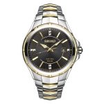 นาฬิกาผู้ชาย Seiko รุ่น SNE444, Coutura Solar Two Tone Stainless Steel Diamond Dial