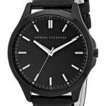 นาฬิกาผู้ชาย Armani Exchange รุ่น AX2148, Quartz Black Dial Black Leather Strap